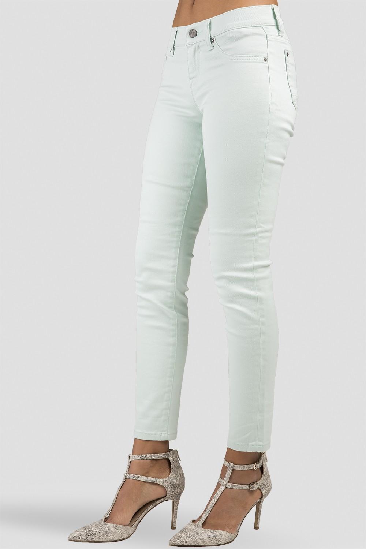 Women Mint Cropped Denim Skinny Jeans