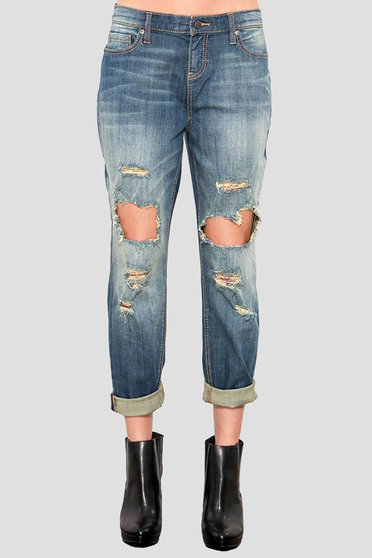Women Indigo Boyfriend Jeans