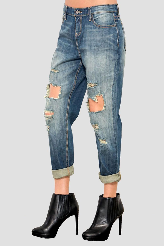 Women Low Rise Boyfriend Jeans