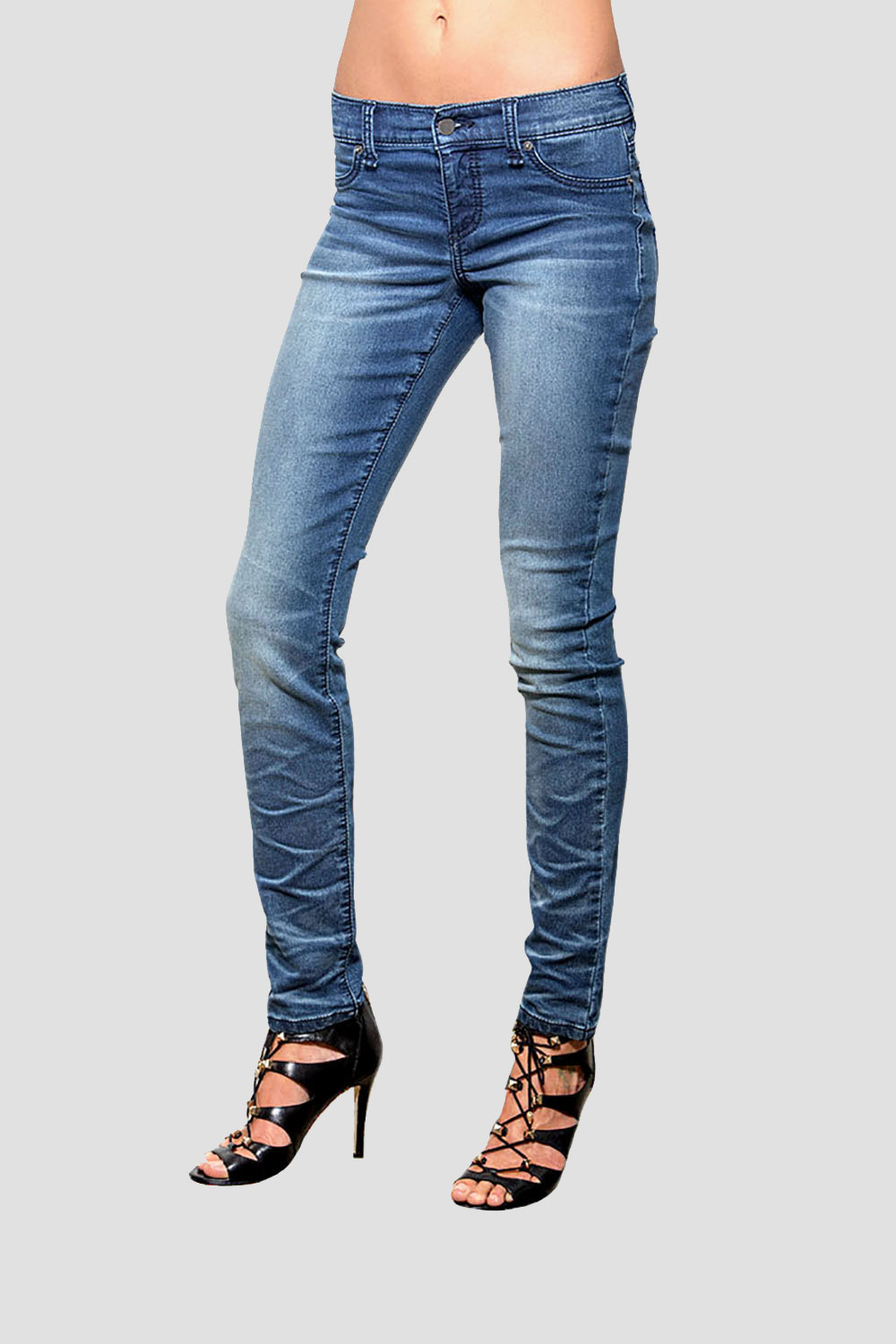Women Medium Wash Denim Skinny Jeans