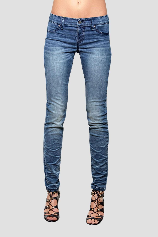 Women Medium Whisker Denim Skinny Jeans