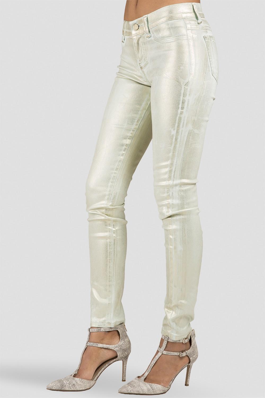 Women Mint Coated Skinny Jeans