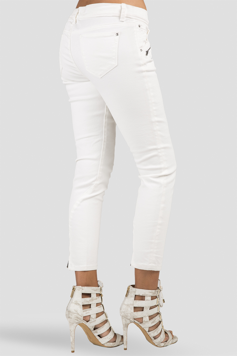 Ankle Zippers Skinny Jeans