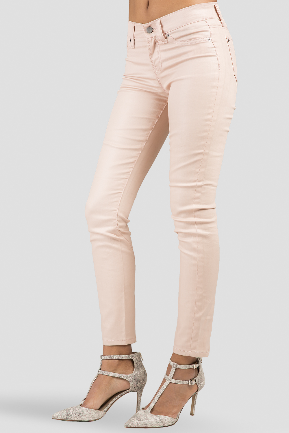Women Rose Cropped Skinny Jeans