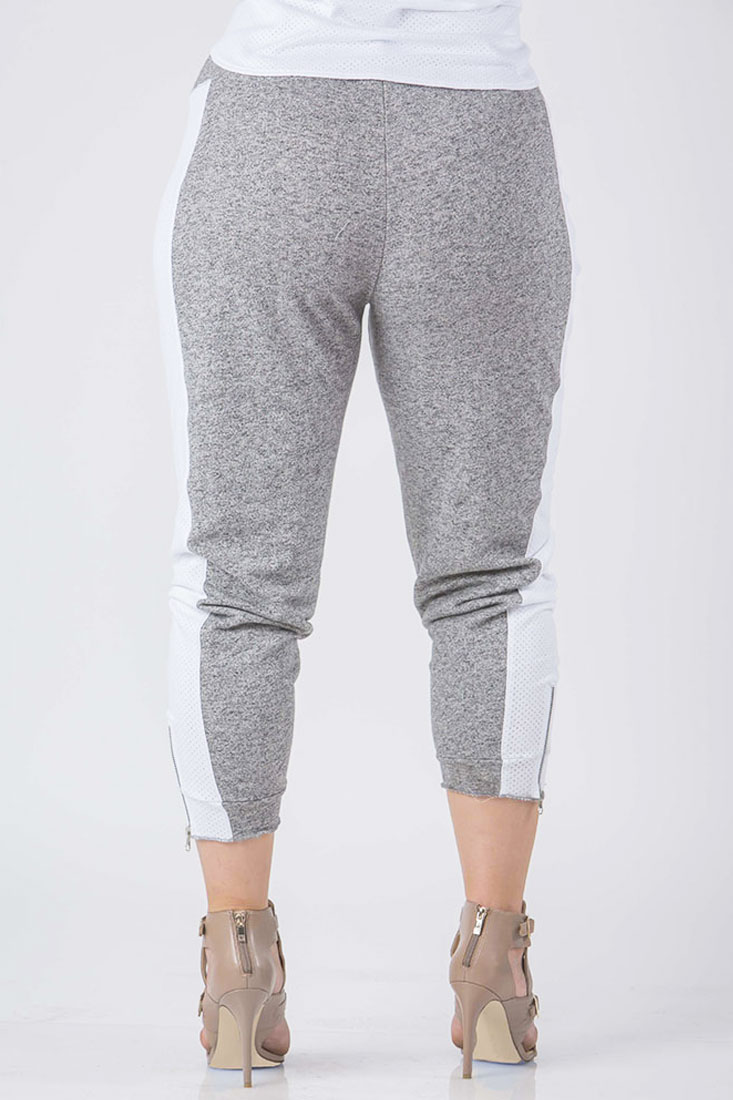 Plus Size Women Grey French Terry Joggers