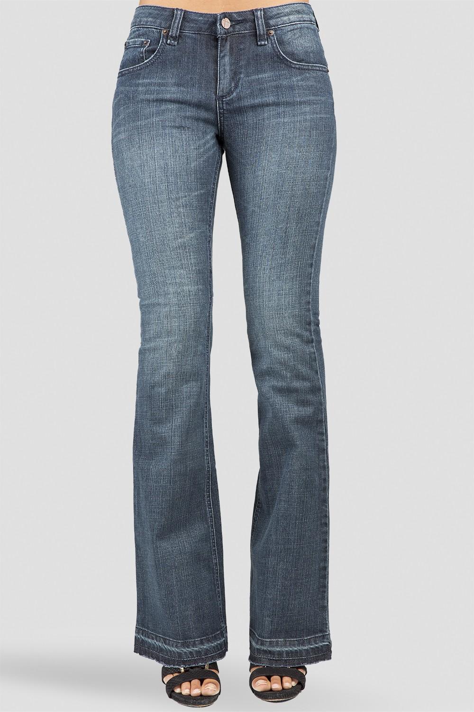 Women Indigo Stretch Denim Flare Jeans