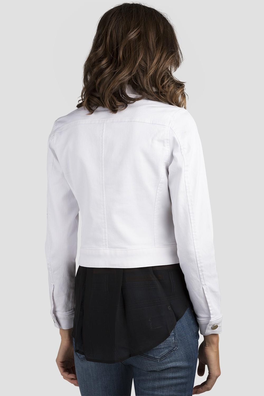 Women White Denim Jacket