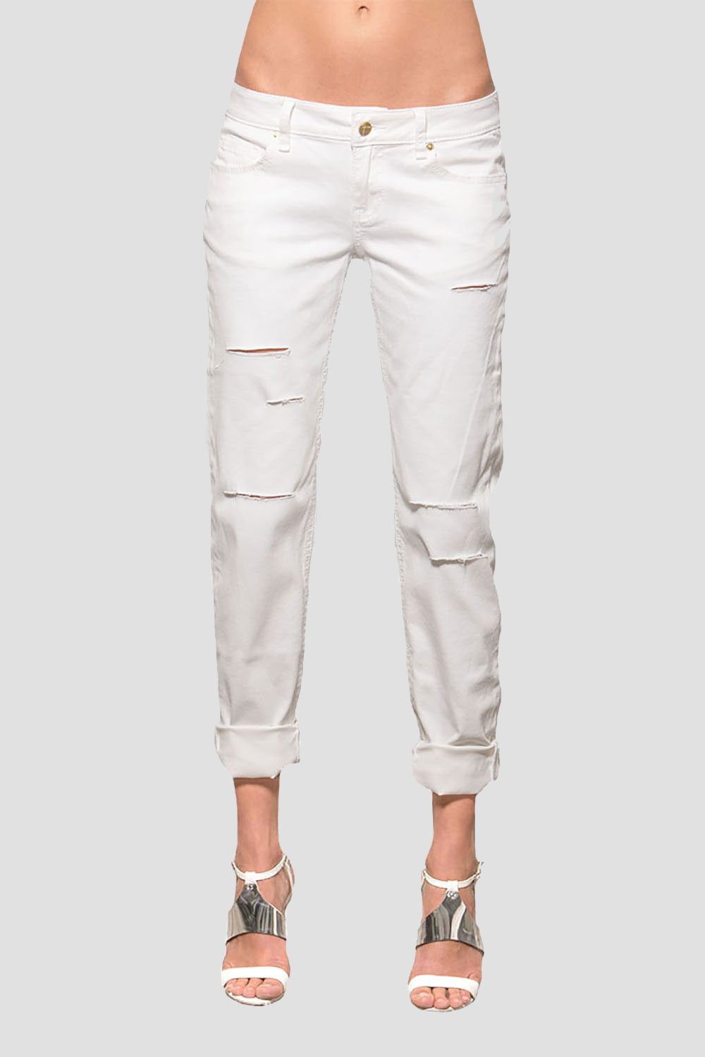 Women White Low-Rise Skinny Jeans