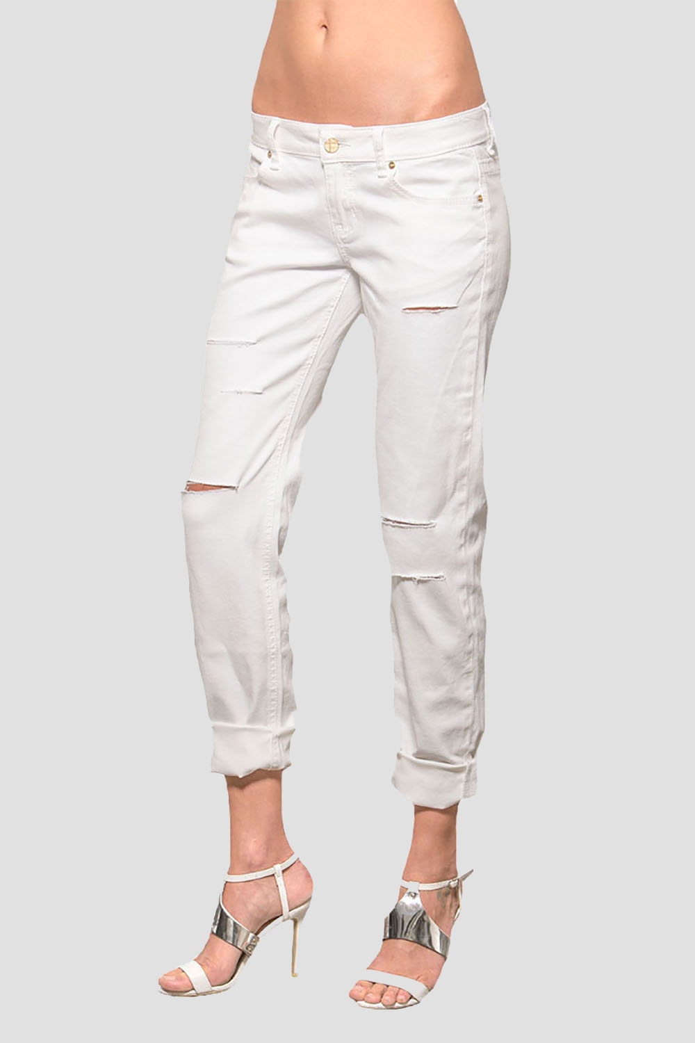 Women White Skinny Jeans