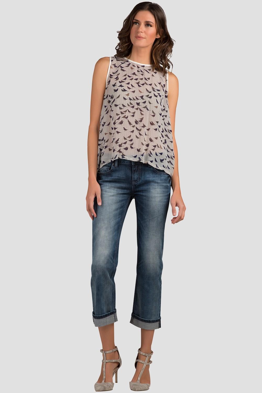Women Denim Low Rise Rolled Jeans