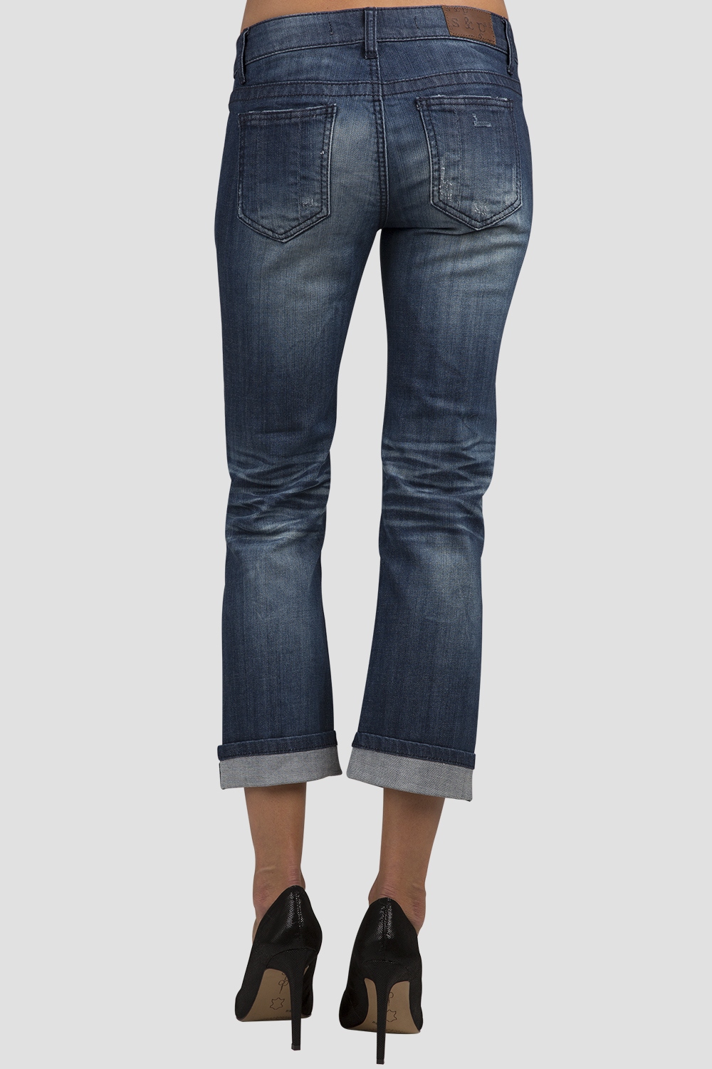 Low-Rise Rolled Jeans