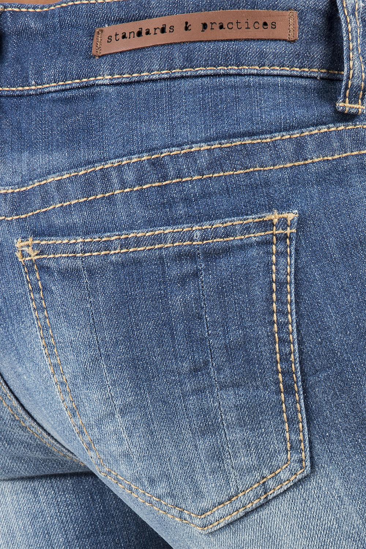 Women Destroyed Denim Rolled Jeans