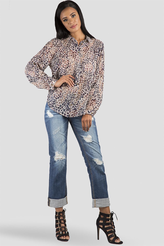 Denim Rolled Jeans