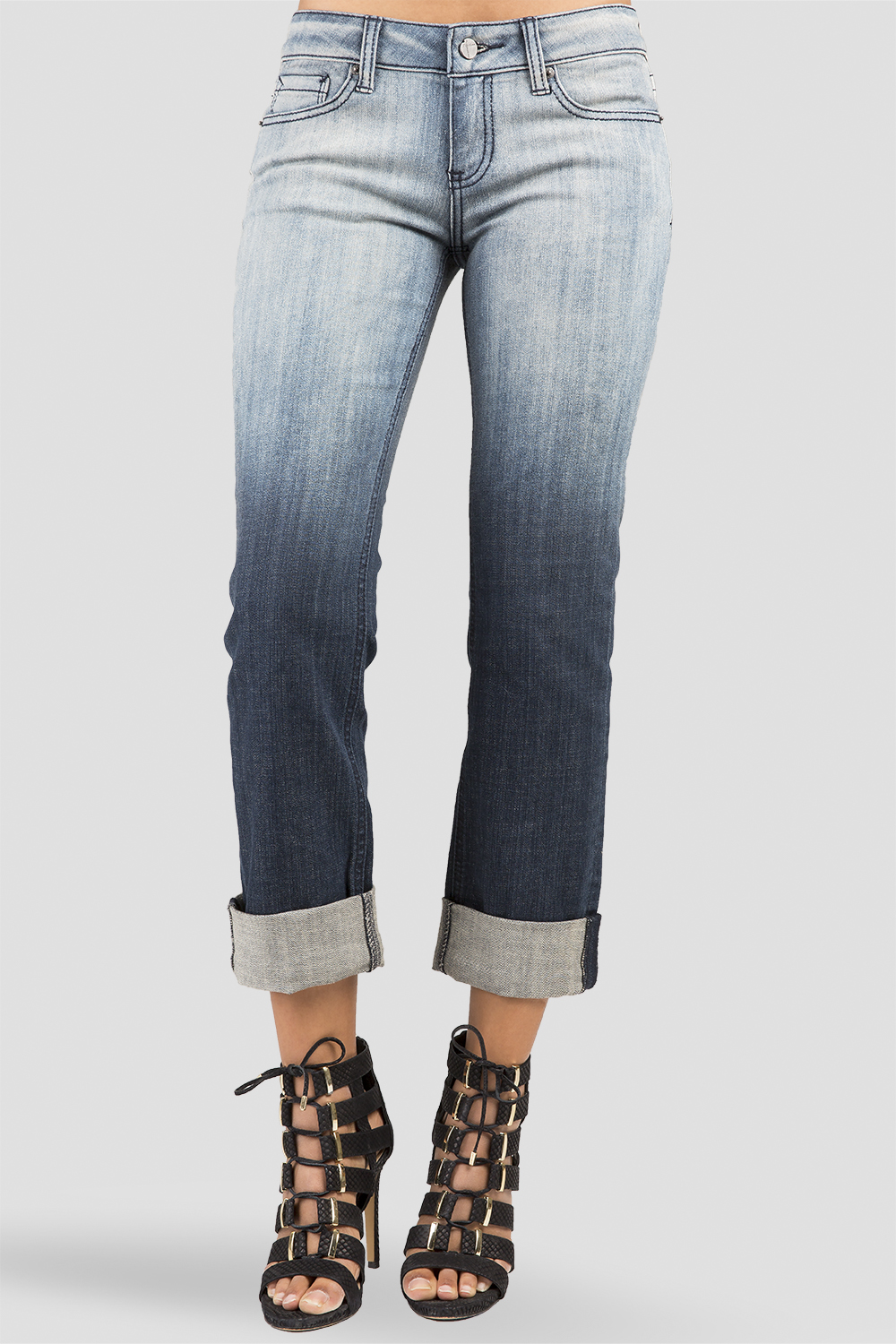 Women Denim Ombre Boyfriend Jeans