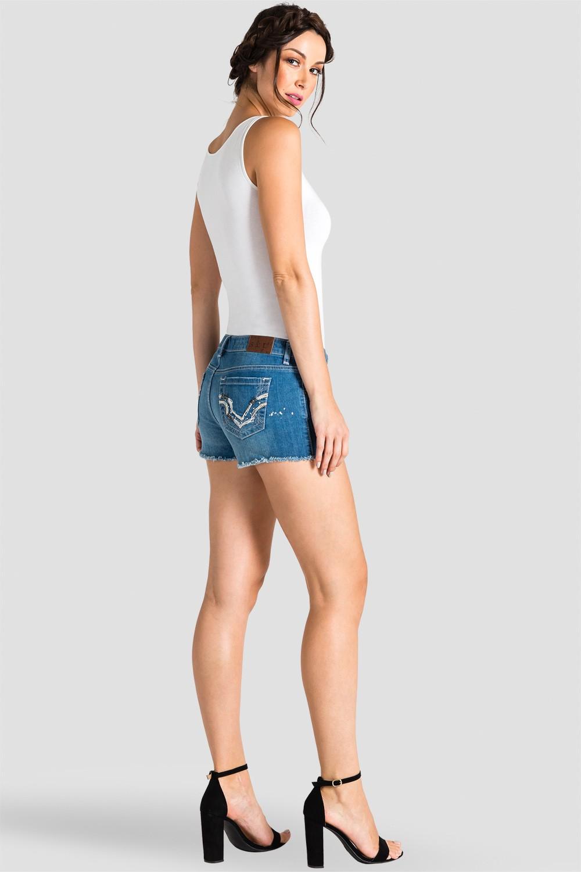 Women Denim Embroidered Shorts