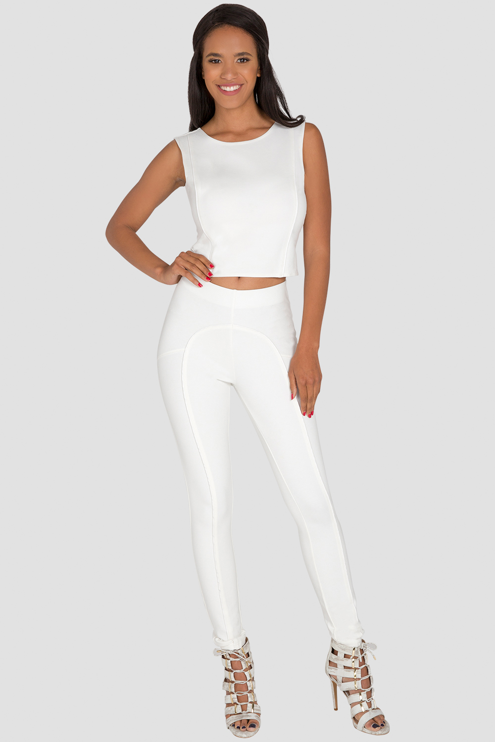 Standards & Practices Women's White Cropped