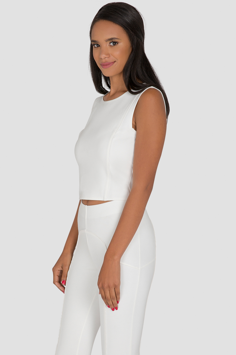 Standards & Practices Women's White Cropped Top