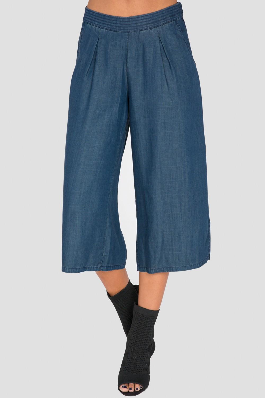 Standards & Practices Women's Wide-Leg Indigo Denim Pants
