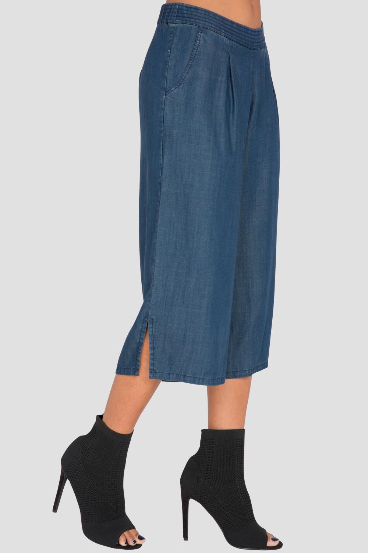 Standards & Practices Women's Wide-Leg Cropped Denim Palazzo Pants