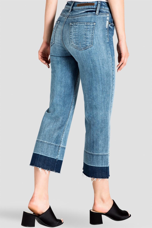 Undone Raw Hem Frayed Women's Cropped Jeans