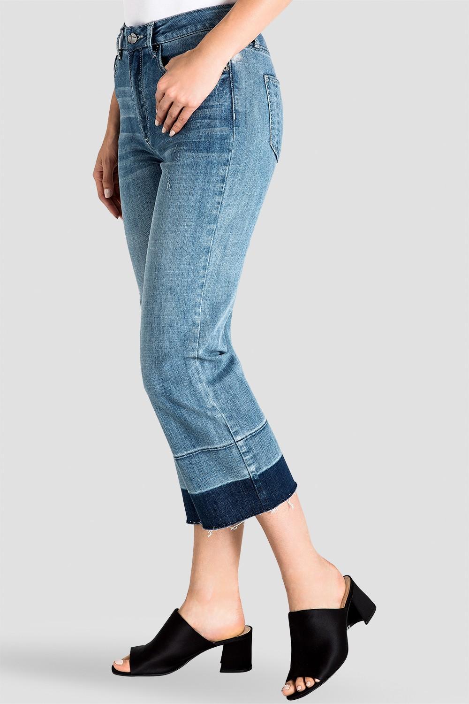 Bobbie Women's Frayed Cropped Jeans - Undone Raw Hem