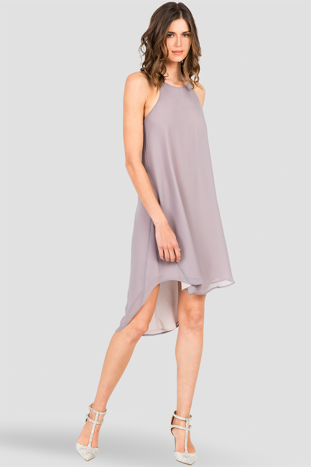 Standards & Practices Women's Grey  Racerback Dress