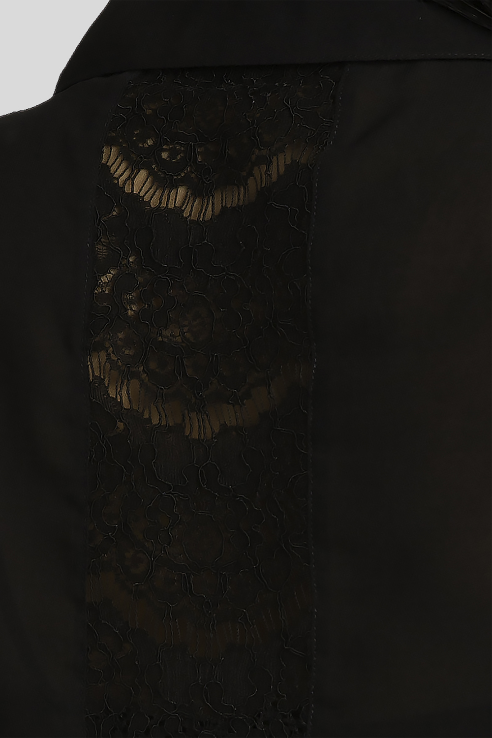Women's Button-Down Blouse in Black Lace