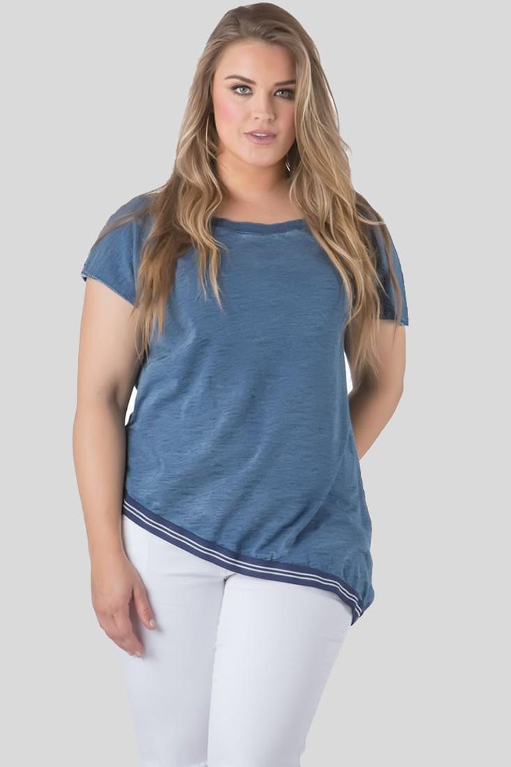 Plus Size Women Indigo Denim Shirt