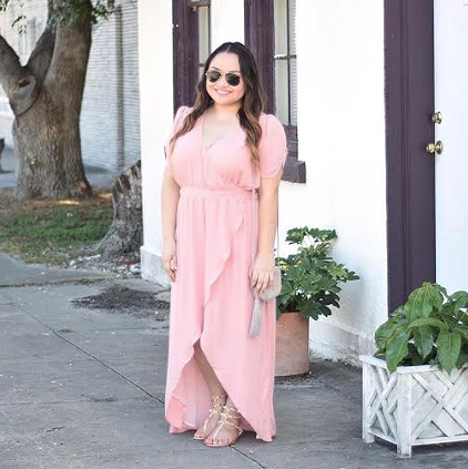 Daisy @thedarlingsouthern wearing Standards & Practices maxi dress.